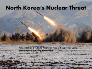Team 5: North Korea's Nuclear Threat