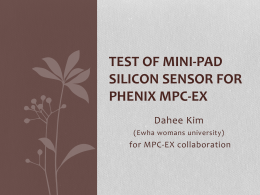 Test of mini-pad silicon sensor for PHENIX MPC-EX