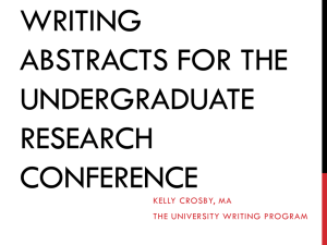 Writing Abstracts for Research Articles