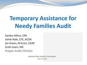 Temporary Assistance for Needy Families Audit