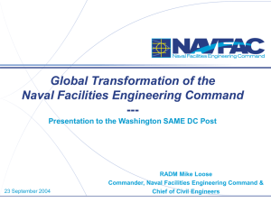 Global Transformation of the Naval Facilities Engineering Command