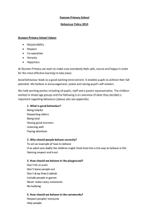 Behaviour Policy - Dunoon Primary School
