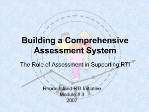 RTI: An Intervention System