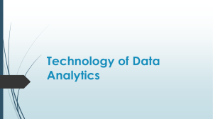 Technology of Data Analytics - Big Data & Analytics Association