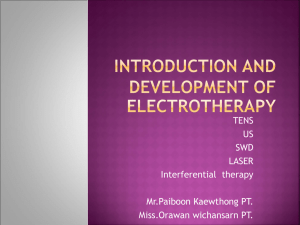 Introduction and development of electrotherapy