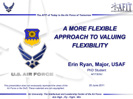 The AFIT of Today is the Air Force of Tomorrow