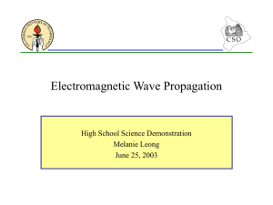 Electromagnetic Propagation