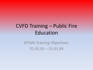 CVFD Training * Public Fire Education