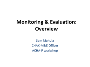 Introduction to Monitoring & Evaluation