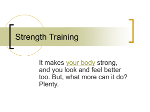 Strength Training Basics