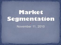 Market segmentation exam questions