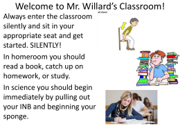 science interactive notebook - Mr. Willard's Life Science Class