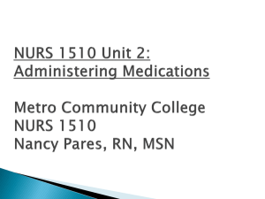 Nurs1510/Medication Admininstration