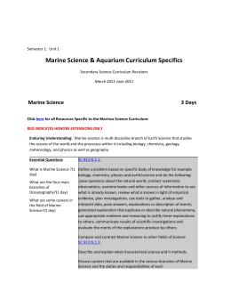 Marine Science Curriculum Guide