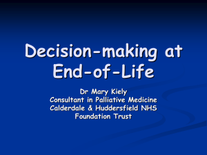 decision making at end of life