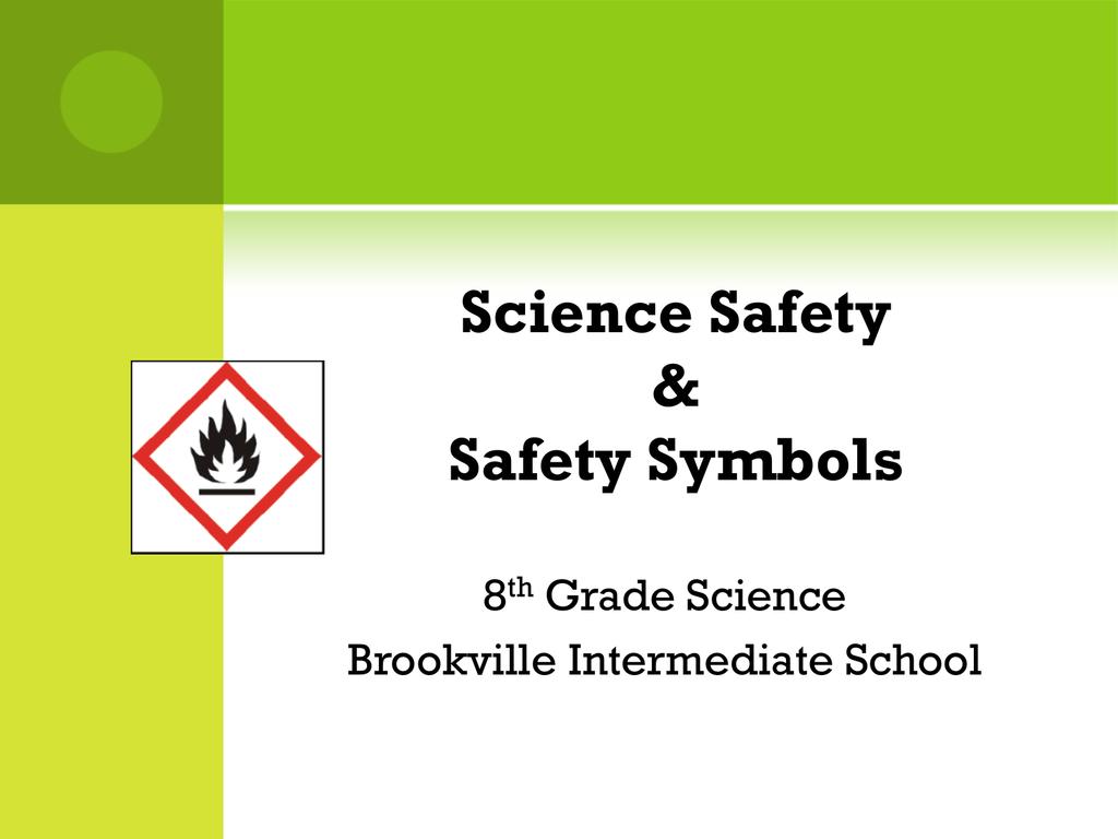 Science Safety Safety Symbols