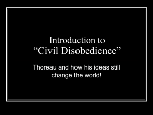 Intro: Civil Disobedience