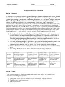 Antigone essay questions