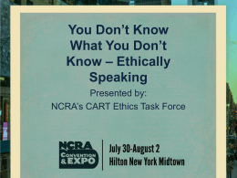 You Don't Know What You Don't Know – Ethically Speaking
