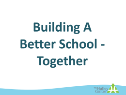 Building a Better School – Together Workshop