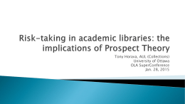 Risk-taking in academic libraries: the implications of