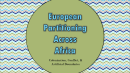 European Partitioning Across Africa ppt and worksheets