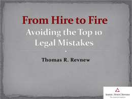 while you`re reading the following my turn essay highlight several from hire to fire avoiding the top 10 legal mistakes
