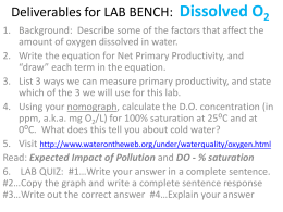 Lab Bench DELIVERABLES and Nomograph