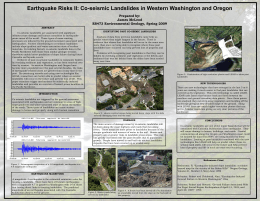 Co-Seismic Landslides - Western Oregon University