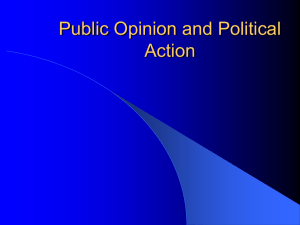 Chapter 6 - Public Opinion and Political Action