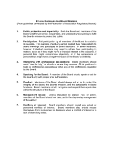 ETHICAL GUIDELINES FOR BOARD MEMBERS