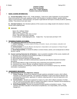 com101 communication analysis syllabus spring 2015 This syllabus section provides an introduction to the course and information on meeting times, prerequisites, objectives, learning outcomes, team problem solving, problem sets, online feedback problems, collaboration, the final exam, and grading.