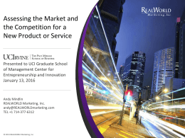 Assessing the Market and the Competition