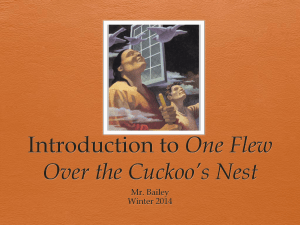 Introduction to One Flew Over the Cuckoo*s Nest