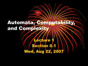 Automata, Computability, and Complexity