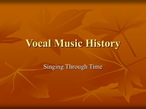 Vocal Music History