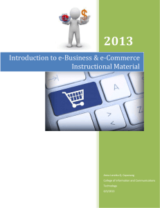 Introduction to e-Business & e-Commerce