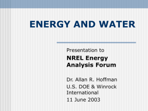 energy and water - Knowledge on Line