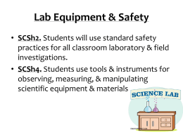 Lab Equipment & Safety SCSh2.