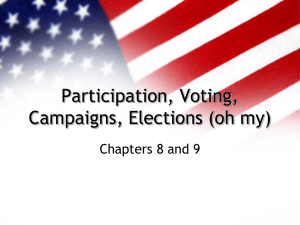 Participation, Voting, Campaigns, Elections (oh my)