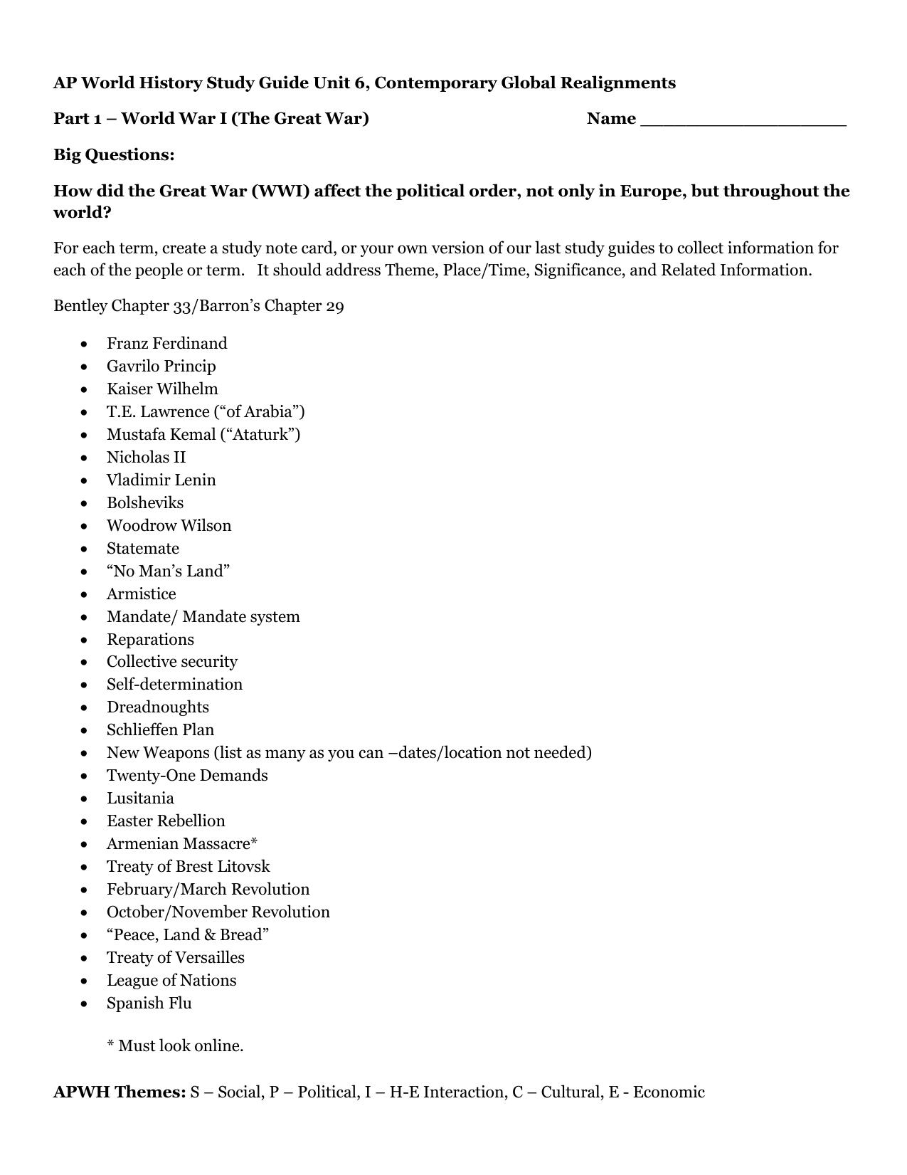 ap world history study guide unit 6 contemporary global rh studylib net 6th Grade ELA Study Guide 6th Grade World History Study Guide