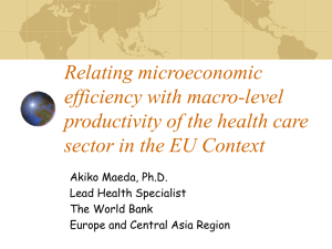 Relating microeconomic efficiency with macro