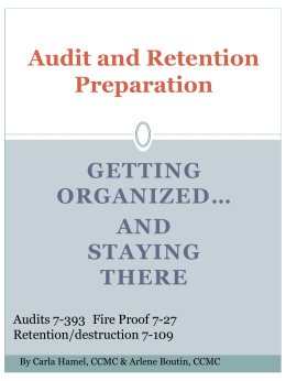 Getting Organized (ppt)