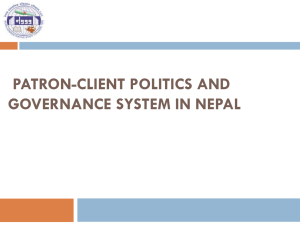 Patron-Client Politics and Governance System in Nepal
