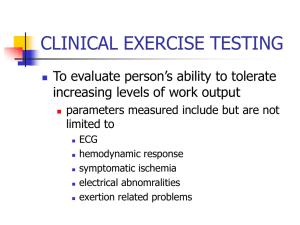 clinical exercise testing - Academic Resources at Missouri Western