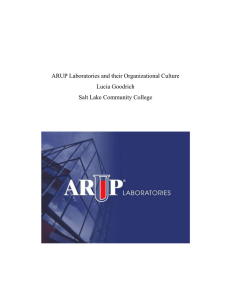 ARUP Laboratories and their Organizational Culture