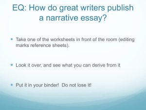 EQ: How do great writes publish a narrative essay?