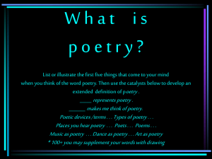 poetic terms - Teacher Pages