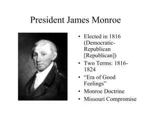 Monroe Doctrine - Warren County Schools