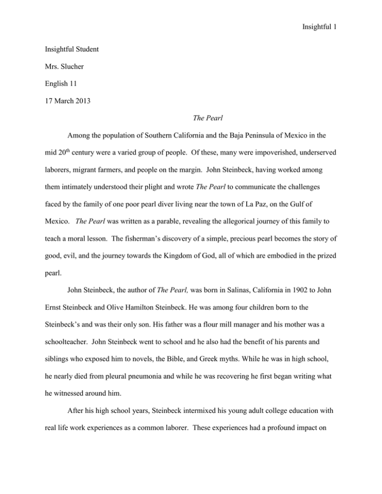 Steinbeck research paper what is a reflective narrative essay